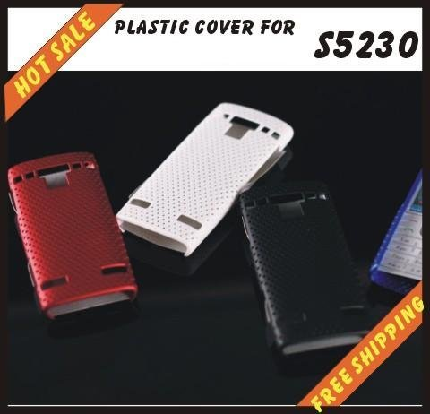 Free shipping --New high quality more colours plastic cover case mobile phone cellphone for SAMSUNG S5230