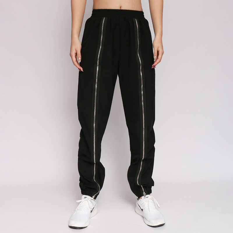 New High Waist Winter Women Sweat   Pants   Fashion Casual Loose Zipper Trousers Autumn Black Streetwear   Pants     Capris   cuteandpsycho