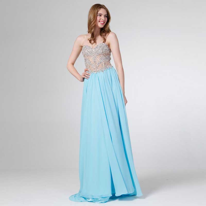 Types of long prom dresses