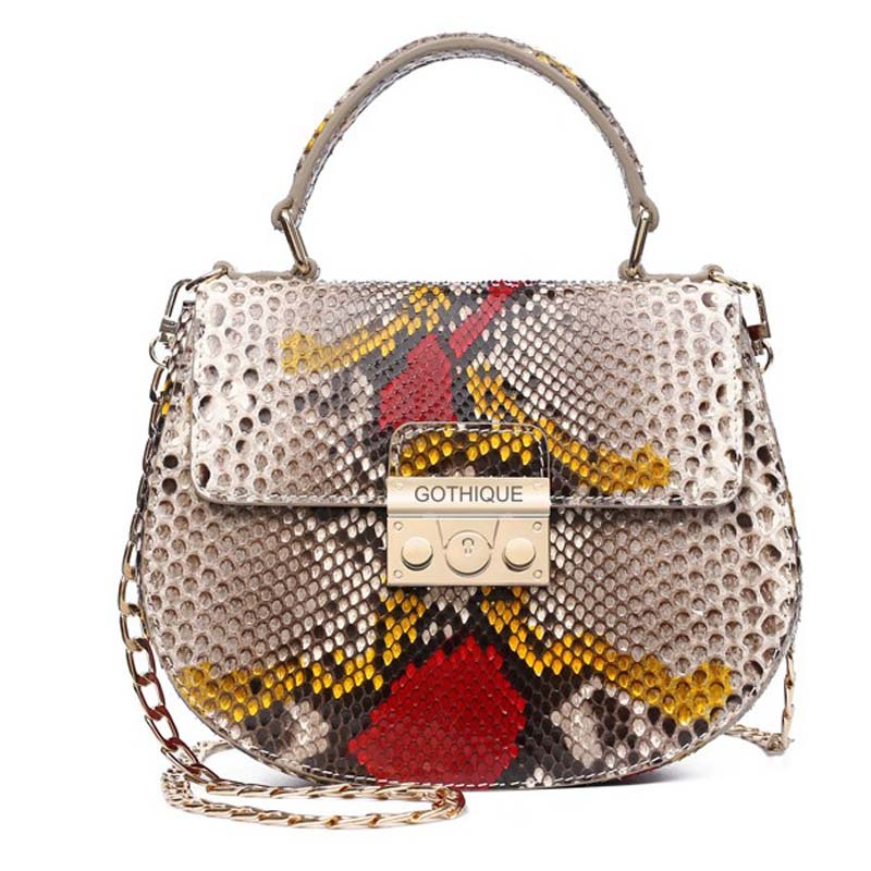 Gete new imported diamond mang snakeskin single female bag shoulder bag handbag