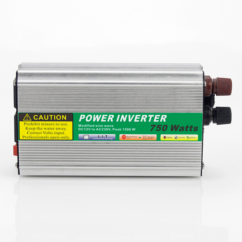 1pcs 750W Mini Size Car Power Inverter Converter DC 12V to AC 110V or 220V Modified Sine Wave Power Solar inverters solar power on grid tie mini 300w inverter with mppt funciton dc 10 8 30v input to ac output no extra shipping fee
