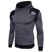 2017 Printing style Hoodies Mens casual Hoodie Diagonal zipper Lapel printing Sweatshirt Men Hoody Sleeve leather size S-3XL