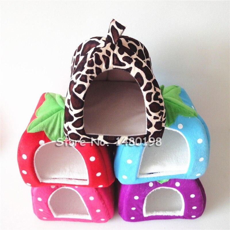 Новый зоотоваров высокое качество собачья будка мягкая клубника кота кролик кровать дом питомник собачий теплый подушка корзина для щенка дома