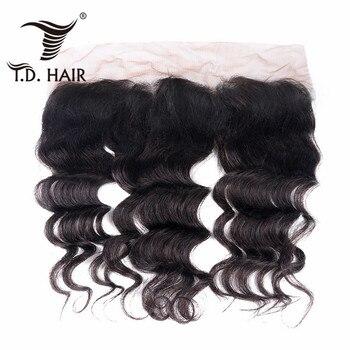 TD HAIR Grade 9A Remy Brazilian Hair Loose Wave Ear To Ear Frontal Closure 13x4 Free Part Human Hair