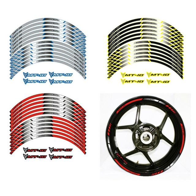 3 color for yamaha mt 10 motorcycle wheel decals stickers rim stripes mt 10 motorbike