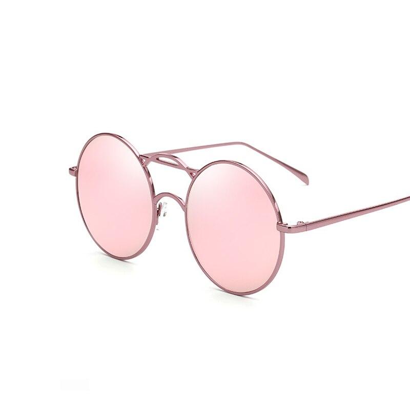 JUANBO Luxury Brand Design Pink Moda Mujeres Ronda Círculo Gafas de ...