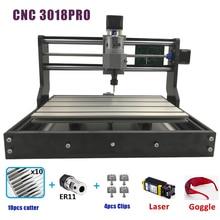 CNC 3018 PRO лазерный гравированное дерево фрезерный станок с ЧПУ GRBL ER11 Хобби DIY гравировальный станок для дерева PCB ПВХ Мини CNC3018 гравер