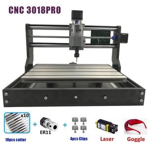 Image 2 - CNC 3018 PRO Laser Incisore di Legno Macchina del Router di CNC GRBL ER11 Hobby FAI DA TE Macchina Per Incisione per Legno PCB PVC Mini CNC3018 Incisore