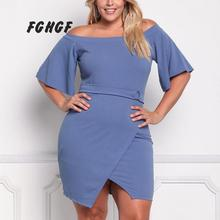FGHGF Robe Femme Ete 2017 Summer Sexy Party Dresses Plus Size Elegant Vintage Dress Slash Neck
