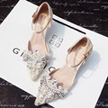 Pure Handmade Lace Heels Beading Pearl Party Pumps Women Beige Shoe Strapy High Heel Rhinestone Studded Wedding Slinky Stilettos