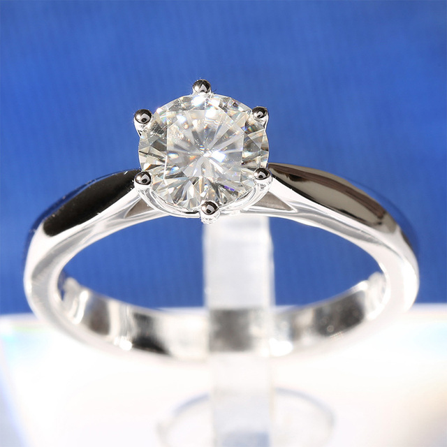 14K 585 White Gold 1CT Diamond Ring