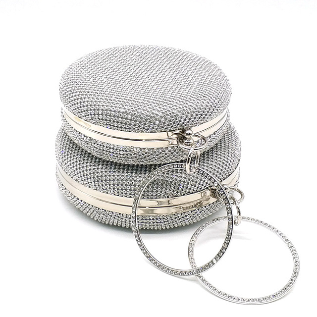 Simple Shining Round Shaped Clutch Bag