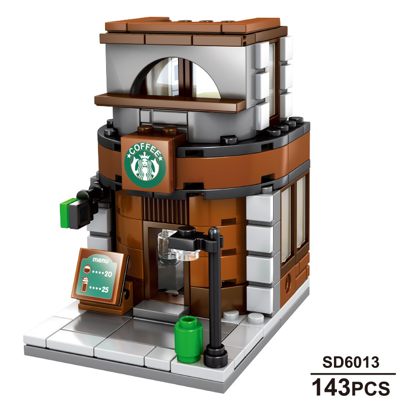 Image 2 - Sembo 601021 Mcdonald Hamburger Fast food restaurant Streetscape Building Blocks Bricks Model toys-in Stacking Blocks from Toys & Hobbies