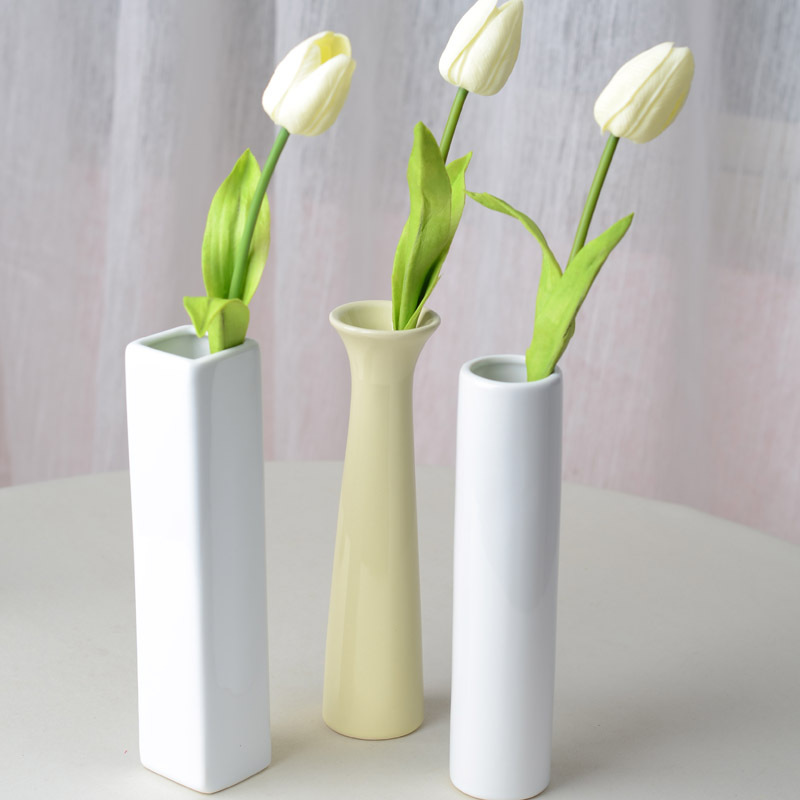 Wedding Centerpieces Ideas Without Flowers: Fashion Ceramic Vases Artificial Flower Vase Home Wedding