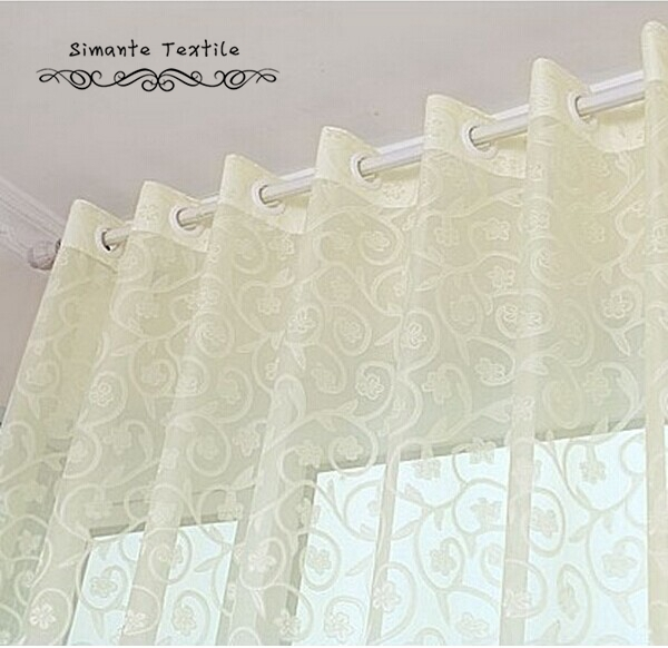NAPEARL Rustic Jacquard Voile Sheer Curtains Tulle Fabrics For Home Decoration Bedroom Transparent Tulle Panel