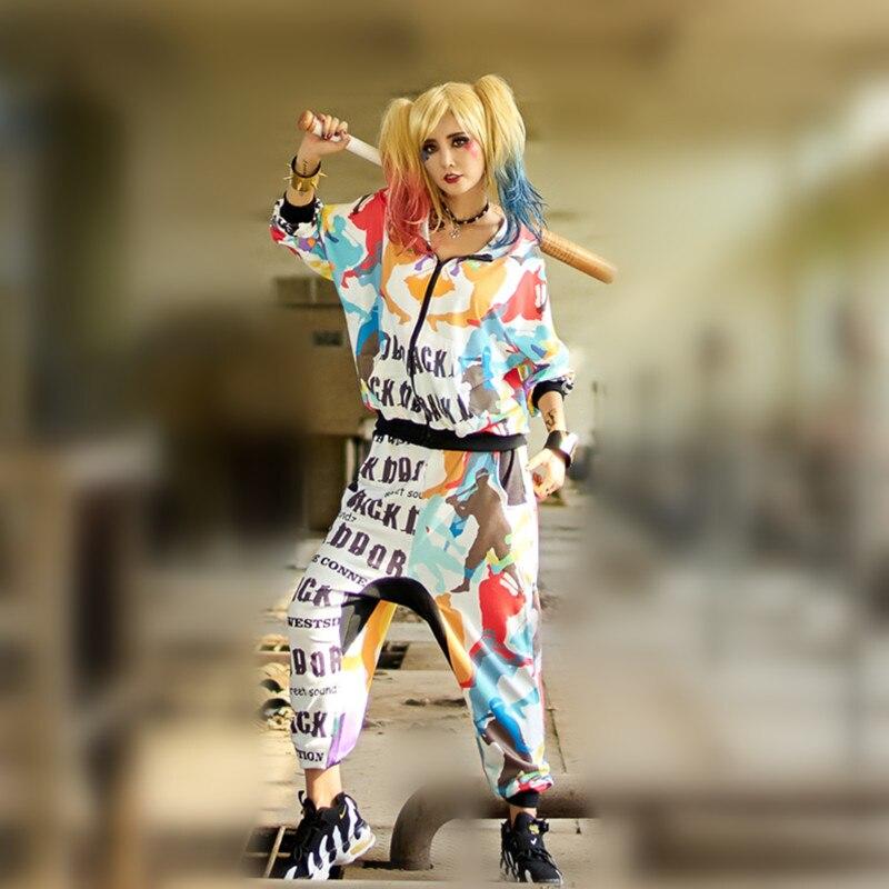 Juste. être. jamais marque survêtement femmes jogger fitness hoodies ensemble 2 pièces casual high street hippie camouflage lettre imprimé camo