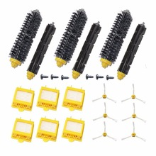 6 Side Brush+6 screw+ 6 HEPA Filter +3 Bristle Beater Brush for iRobot Roomba 700 Series Vacuum Cleaner Robots 760 770 780 790
