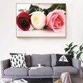 3 шт.  настенные картины для гостиной  домашний декор  настенные картины  красная роза  настенная живопись  холст для спальни