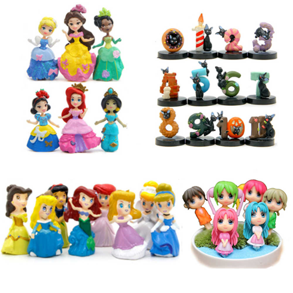 Fairy miniature statuette the bulk mini princess doll classic toys for girl kids christmas gift movie anime action figures