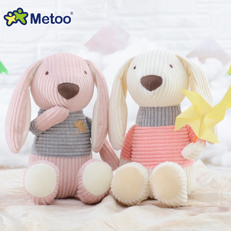 25cm Bear Rabbit Kawaii Stuffed Plush Animals Cartoon Kids Toys for Girls Children Baby Birthday Christmas Gift Metoo Doll