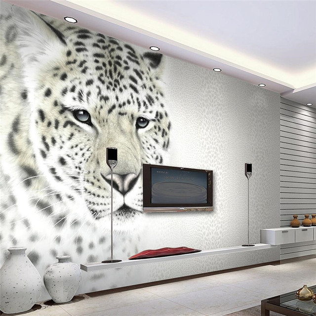 Beibehang 3d Wall Paper Animal Art Photography Photo Living Room Backdrop Bedroom  Wall Mural Wallpaper 3D