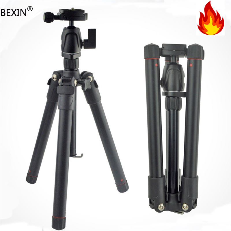 Professional Portable Travel Aluminum Mini Tripod Can Detachable into Monopod with Ball Head for Canon Nikon DSLR Digital Camera new professional portable aluminum tripod for dslr camera camcorder travel tripod stand removable monopod with ball head
