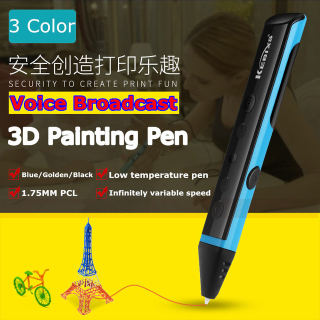3 Color Painting Pen Can Voice Broadcast Low Temperature Printing Pens Best Birthday Present For Child Gifts