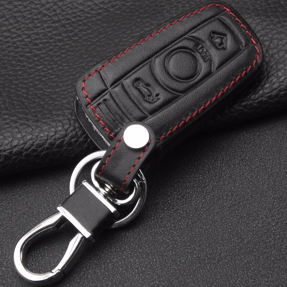 3 Button Leather Car Key Case Styling Cover For BMW 1 3 5 6 Series Car Key Shell Blade Fob E90 E91 E92 E60 Holder in Key Case for Car from Automobiles Motorcycles