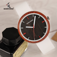 Reloj Muje BOBO BIRD Coloful Silicone strap Wooden Women's Watches Fashion Customizable Gift Wooden Box For Girlfriends Daughter
