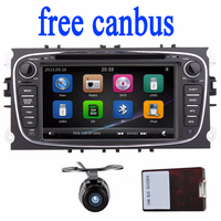Ford Mondeo için 2 Din Araç DVD Radyo GPS navigasyon ve Focus Autoradio 2 din Radyo Stereo Ana Ünite direksiyon Ile kamera