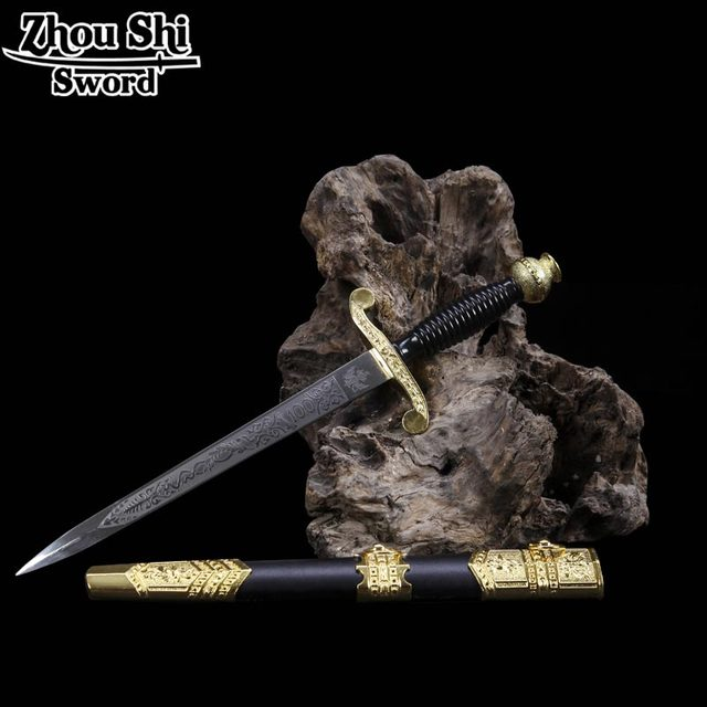 Fashionable gifts beautiful carved medieval sword blades of stainless steel Short Small Sword of vintage home decor Small Sword