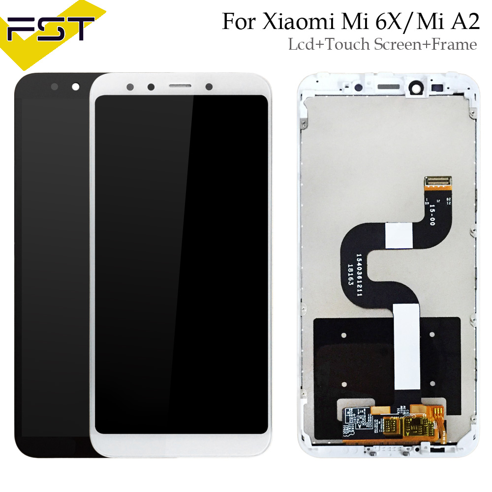 For Xiaomi Mi A2 MIA2 LCD Display Digitizer Touch Screen Assembly With Frame for Xiaomi Mi 6X MI6X Replacement Parts+ToolsFor Xiaomi Mi A2 MIA2 LCD Display Digitizer Touch Screen Assembly With Frame for Xiaomi Mi 6X MI6X Replacement Parts+Tools