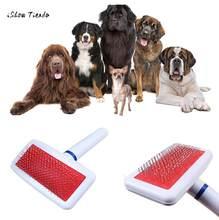 Novo cão de estimação quente gato derramamento grooming anti-estática escova de pele de cabelo agulha pente rake ferramenta peine del perro pet pente
