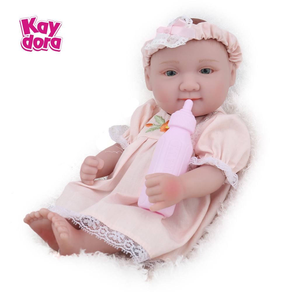 KAYDORA 10 inch 25cm Full Silicone Reborn Baby Dolls New Arrival Mini Real Dolls Realistic Kids Reborn Babies Bath Toy 2 Colors kaydora 1 pair 10 inch 25cm reborn baby dolls full body vinyl silicone small lifelike kids reborn babies kids bath toy bonecas