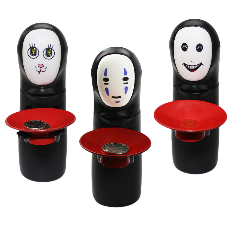 Piggy Bank No Face Male Hiccup Sound Money Coin Storage Bins Kids Toys Creative