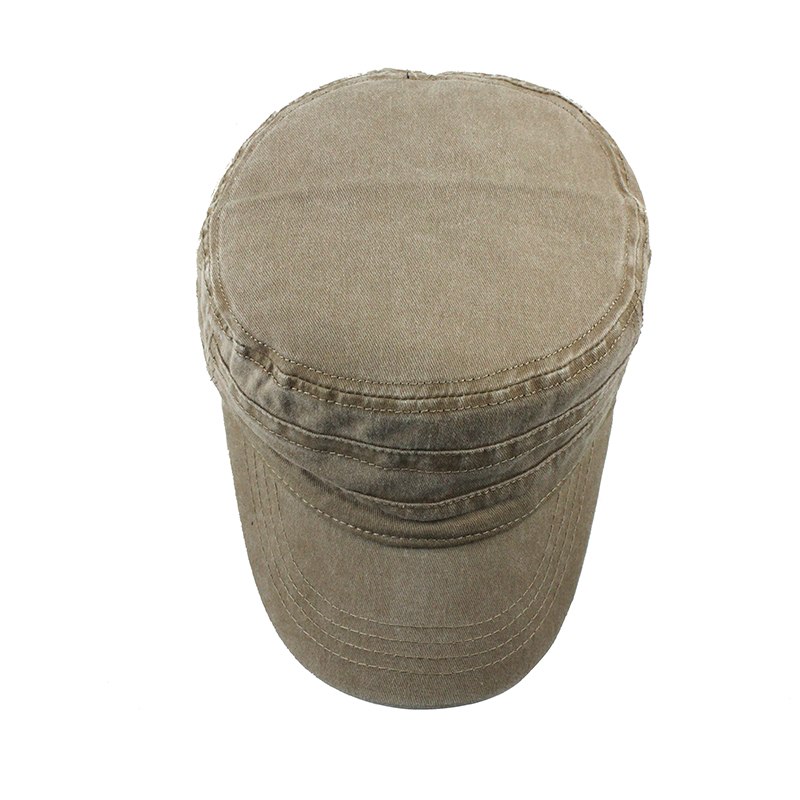 [FLB] 2019 Classic Vintage Flat Top Mens Washed Caps And Hat Adjustable Fitted Thicker Cap Winter Warm Military Hats For MenF314 3