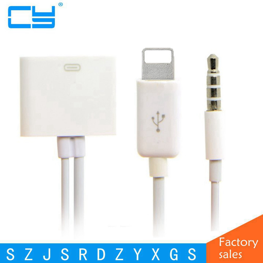 8 Pin To 30 Pin Dock 3.5mm ihome Audio Charger Adapter Converter Cable For iPhone 6 6s Plus 5S to iphone 4S 30pin Dock dock connector to usb cable