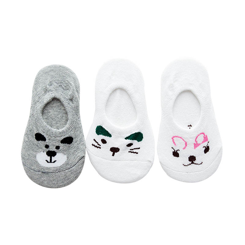 3 pairs/pack 2017 New Spring Summer Fashion Baby Boys Girls Short Socks Kids Cotton Mesh Cartoon Socks Cute Cat Rabbit bear
