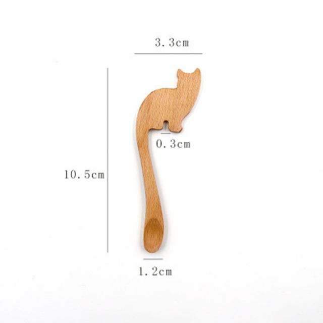 Wooden Cat Shaped Spoon