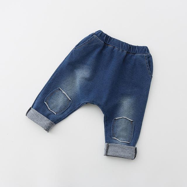 2017 primavera e outono novas crianças meninos e meninas do bebê calças de brim calças moda personalidade das crianças calças de menino