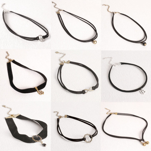 Celebrity Double Layer Leather Choker Necklace