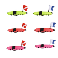 1 Set Torpedo Shape Water Surface Marker Buoy with Flag Scuba Diving Signal Float Directive Buoy Flag for Flatable Boat Dinghy