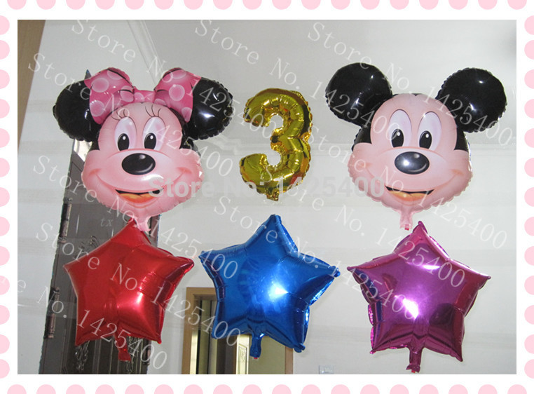 Free shipping 6pcs / lot aluminum balloons toys for children 3 year old birthday