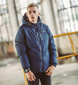 2 Way Use Men's Down and Parkas with Hoody 2017 Winter Warm Think Coats Men Casual Parkas Men Clothes M-2XL
