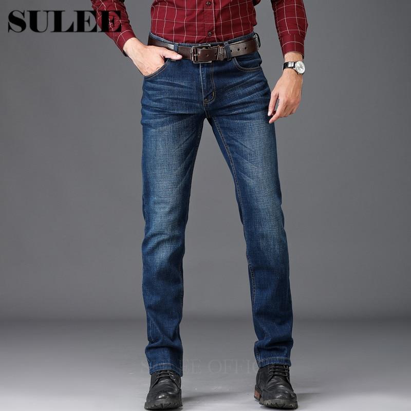 fecc8606dd Para ¡sulee Slim Pantalones De Fit Vintage Elástico Clásico Jeans Moda Denim  Marca Jean Hombre Negro ...
