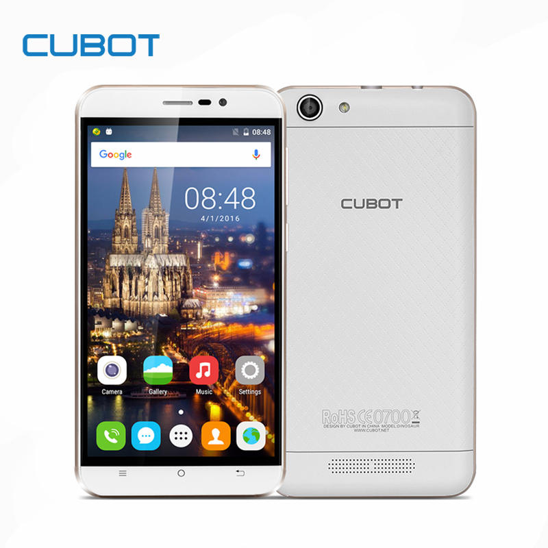 Dinosaurio mtk6735a cubot quad core android 6.0 smartphone de 5.5 pulgadas 4150