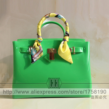 2016 New spring candy color rubber beach bag women messenger handbag