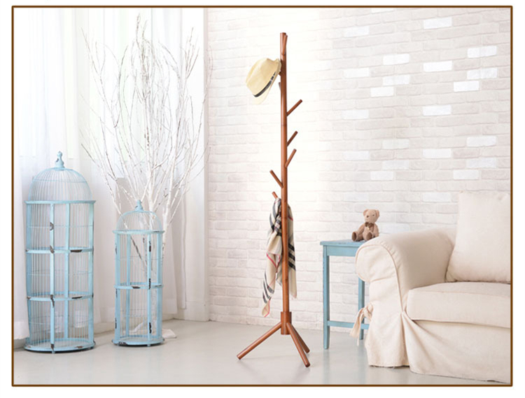8 hooks Solid wooden coat stand Hat shelf Scarves rack Living Room Furniture wfgogo home furnishing solid wooden living coat rack stands scarves hats bags clothes shelf