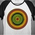 Dad-king-of-nuestra-jungle reggae bob marley colorido redondo patrón hombres mujeres de manga corta camiseta