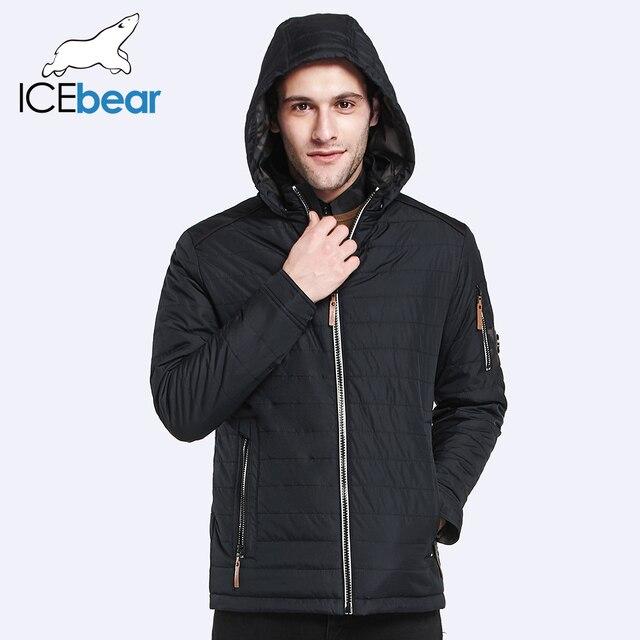 ICEbear 2017 Новый мужской Весна Осень Куртки И Пиджаки Мужчины Тонкий Хлопок Пальто Удобная Ткань Короткая Куртка 17MC109D